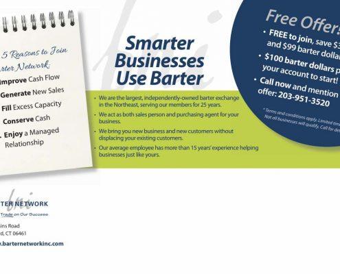 Barter Network postcard side two